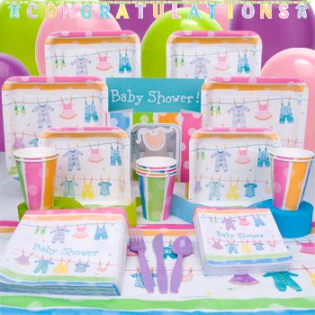 Baby Clothes Line Complete Party Pack