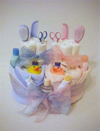 Twin Nappy Cakes