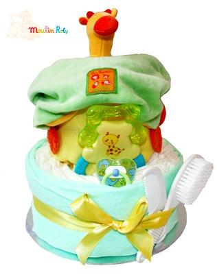 Neutral & Animal Themed Nappy Cakes