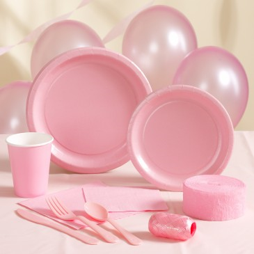 Pastel Pink Plain Tableware