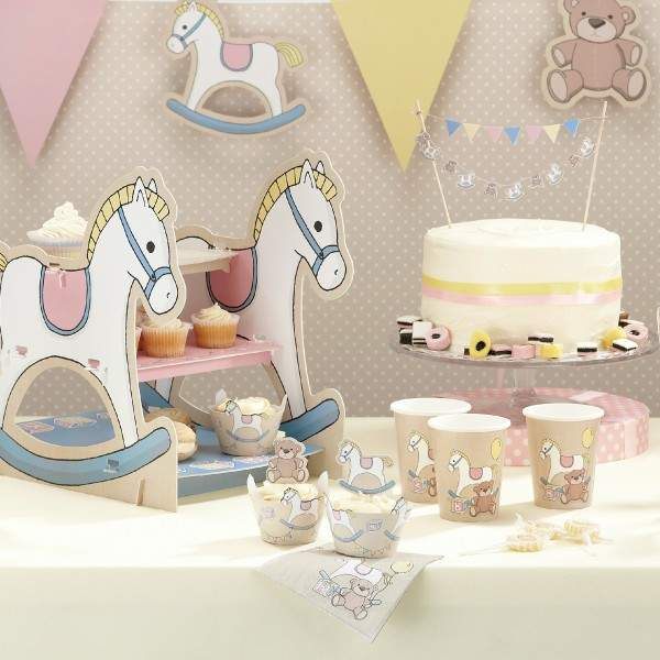 Cake Decorations Baby Shower Uk : Baby Shower Tableware