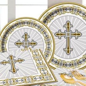 Silver & Gold Radiant Cross