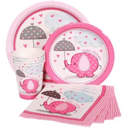 Pink Baby Shower Tableware Ranges