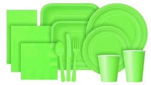 Lime Green Tableware