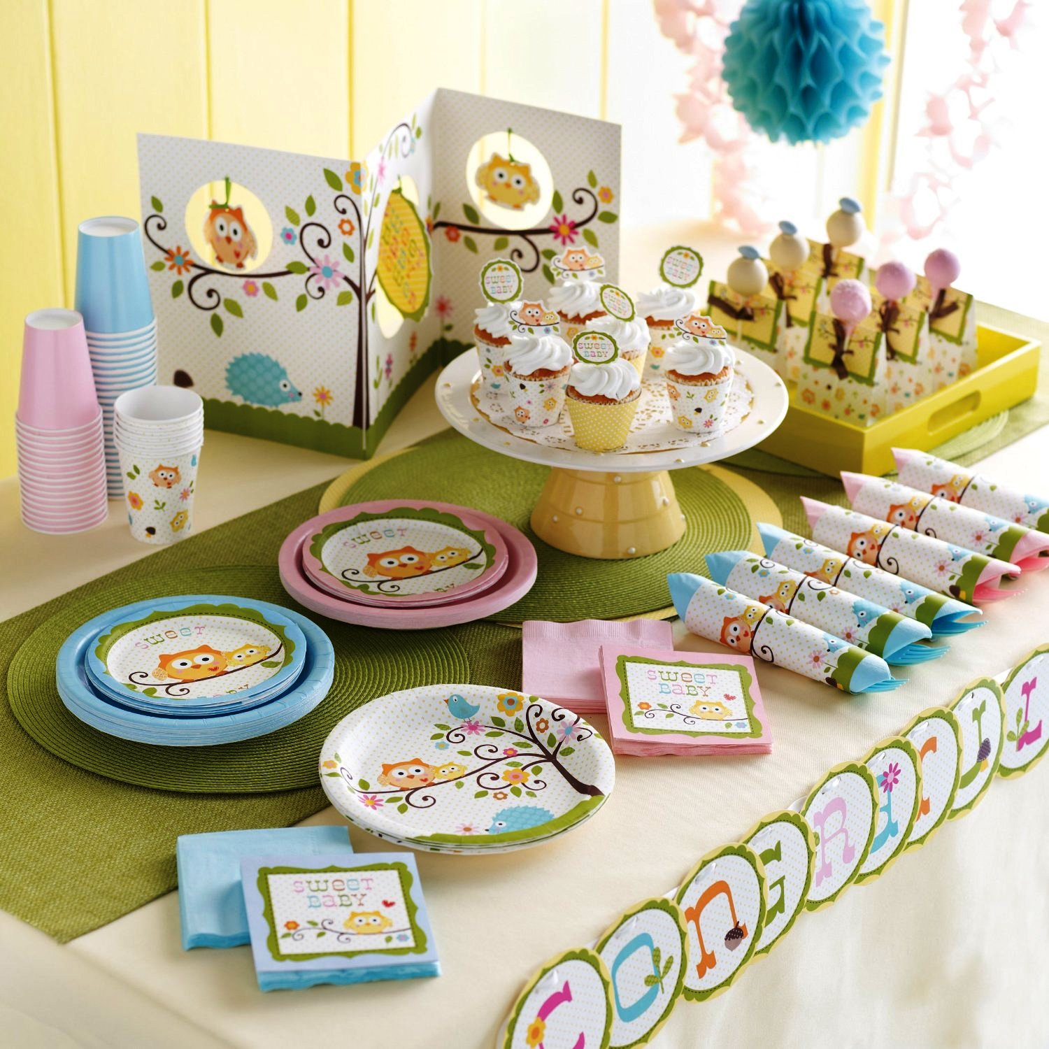 Owl Baby Shower Supplies: Baby Shower Tableware And Themes