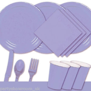 Lilac Christening Tableware