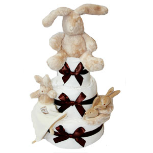 Neutral & Animal Themed Nappy Cakes