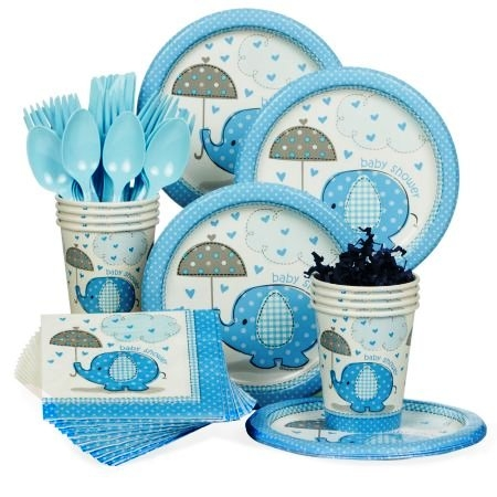 Blue Baby Shower Tableware ranges