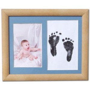 Inkless Footprint & Photo Kit with Beech Frame