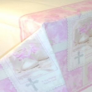 Tiny Blessings Pink Table Cover
