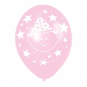 1st Birthday Pink & Lilac Balloons