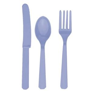 Lilac Plastic Cutlery