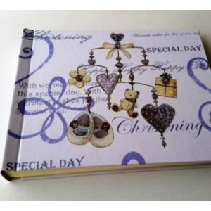 Christening Day Teddy & Shoe Guest Signing Book