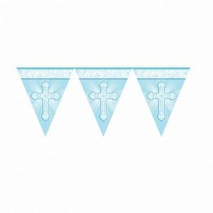 blue cross christening flag banner