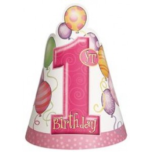 1st Birthday Girl Party Hats