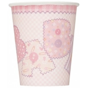 Baby Girl Stitchings Pack of Cups