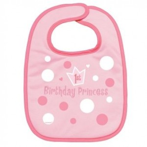 1st Birthday Girl Bib