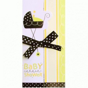 A Baby Shower Invitation stroller fun
