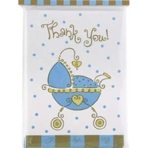 A Baby Joy Blue Thank You Card