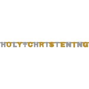 holy christening letter foil banner