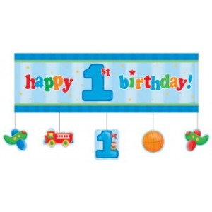 Fun At One Giant Party Banner (5ft) - Boy