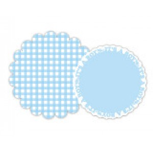 Blue Gingham/It's A Boy Charger Set (8)