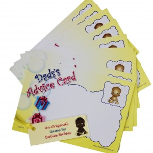 Dad's Advice cards with ethnic baby