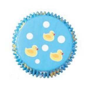 A Pack of Blue Duck Themed Cup Cake Cases