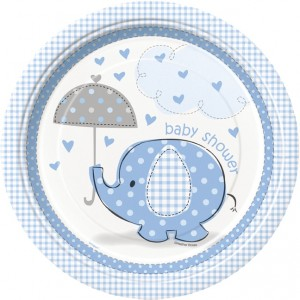 Boy Umbrellaphants Plates (pack of 8)