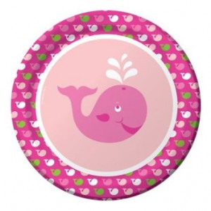 A Pack of 8 Ocean Girl Dinner Plates