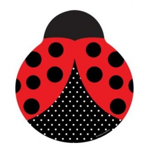 A Pack of 8 Shaped Ladybird Plates