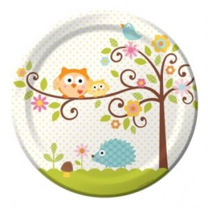 A Pack of 8 Happi Tree Dinner Plates
