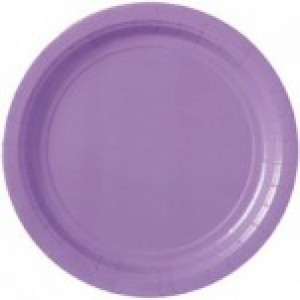 Lilac Plates - 24 Pack
