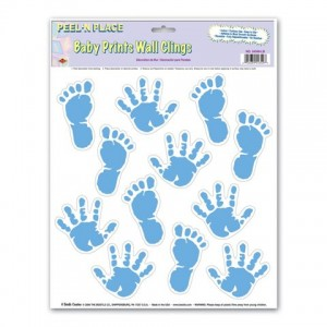 Blue Hand & Footprints