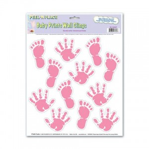 Pink Hand & Foot Prints