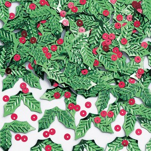 holly and berry confetti