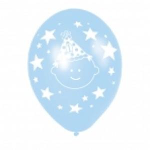 1st Birthday Blue & Green Balloons