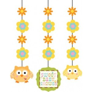 A Pack of 3 Happi Tree Hanging Decorations