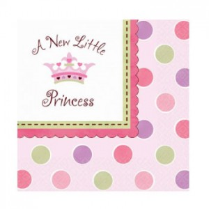 A New Little Princess Pack of Napkins