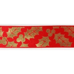 Red & Gold Themed Satin Ribbon
