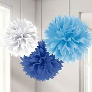 Baby Boy Clothes Line Blue Mix Pom Pom