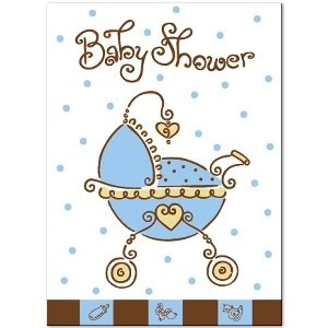 A Baby Joy Blue Baby Shower Invitation