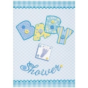 Baby Boy Stitching Invitation