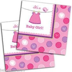 Baby Girl Clothes Line Napkins