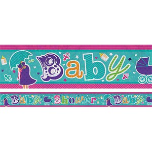 Holographic Baby Shower Foil Banner