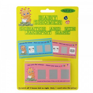 Baby Shower Scratch Card Game