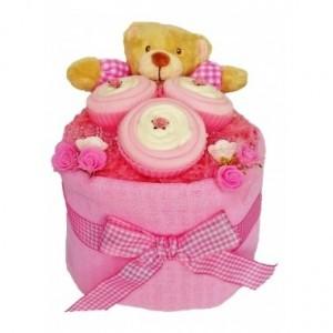 Baby Sock Cupcake Nappy Cake