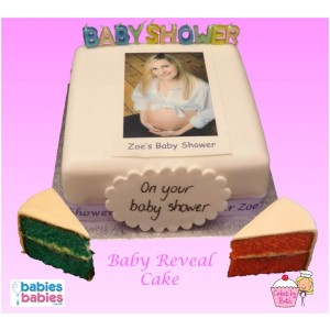 baby reveal photo cake