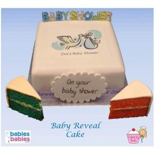 baby reveal stork cake