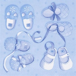 Pack of Baby Boy Shoe Napkins